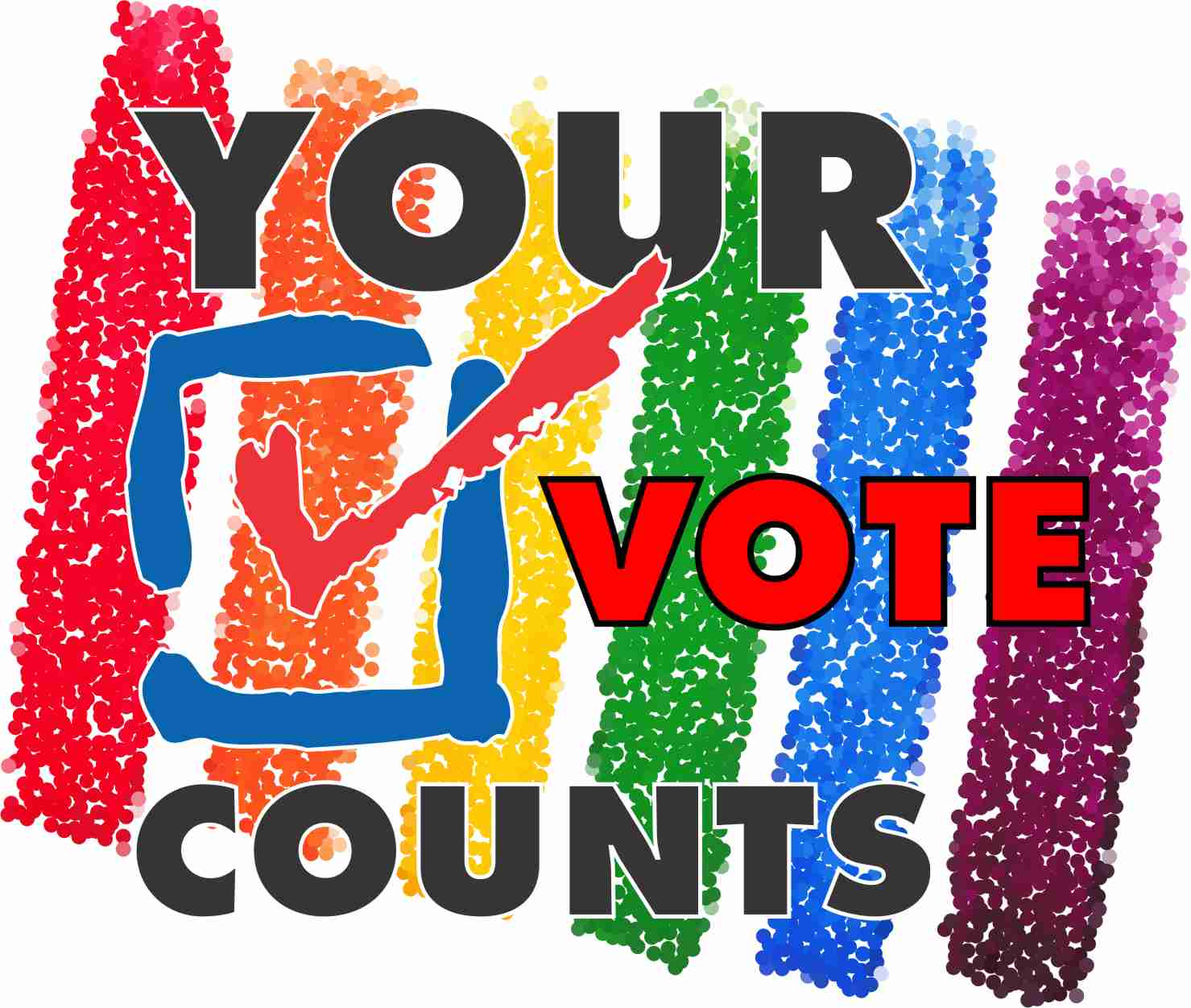 Your Vote Counts with rainbow